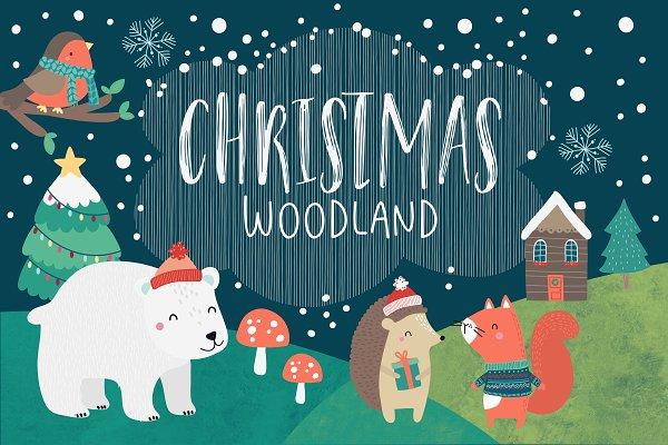 50% OFF SALE Woodland Christmas