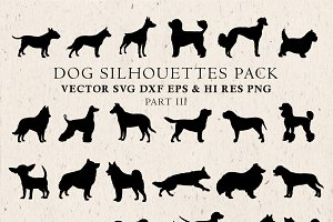 Dog Silhouettes Vector Pack 3