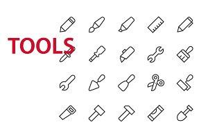 20 Tools UI icons