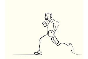 Sport running man