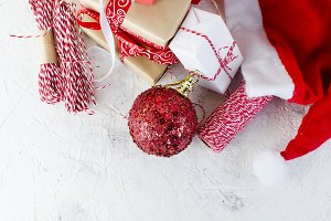 Christmas decorative box red