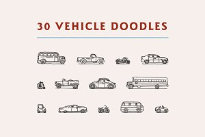 30 Vehicle Doodles