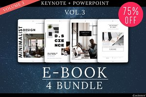 4X Ebook Bundle Templates  | 67% Off