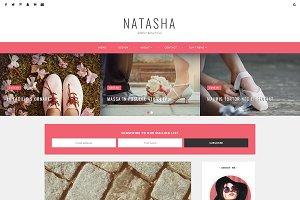 Blogger Template Responsive, Natasha