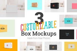3 Real Photo Product Box Mockups
