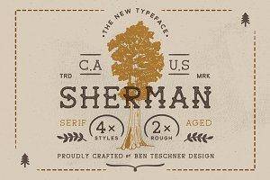 Sherman Font + 3 Logo Templates