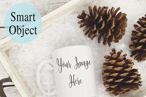 Winter Mug Mockup Photo