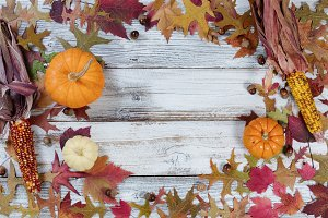 Circular border of Autumn Decor