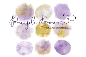 Purple Power Gold Circles