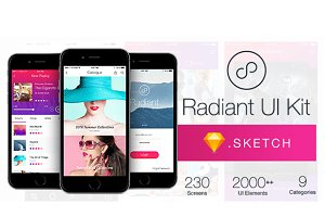 Radiant UI Kit - 200+ for Sketch