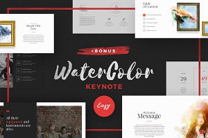 WaterColor Keynote +BONUS