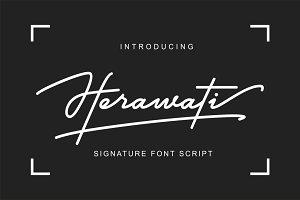 Herawati Signature Font