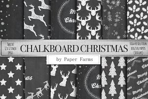 Chalkboard Christmas backgrounds