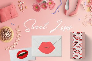 Sweet Lips silhouette icon