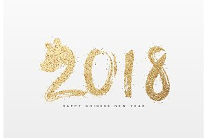 2018 Happy New Year. Year of dog the Chinese Zodiac