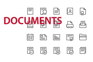 20  Documents UI icons