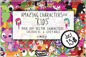 VECTOR CHARACTERS FOR KIDS