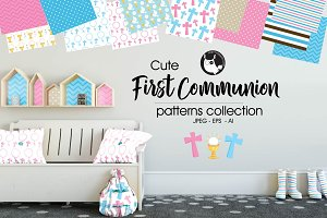 FIRST COMMUNION Pattern collection