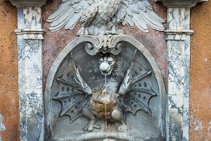 A drinking fountain in Rome .
