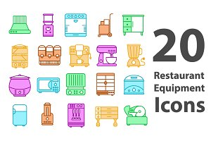 Restaurant Equipment Icons