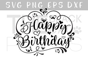 Happy Birthday SVG DXF PNG EPS