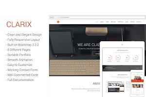 Clarix - Creative Agency/Portfolio