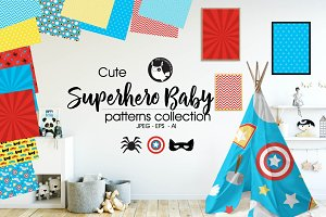 SUPERHERO BABY Pattern collection