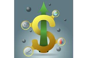 yellow dollar symbol