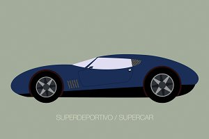 vector supercar icon