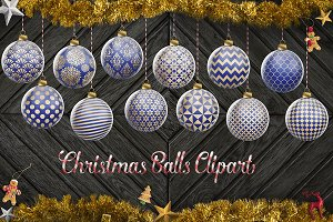 Blue And Gold Christmas Ornaments