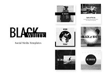 Social Media pack - BlackWhite