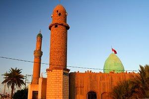 Exterior view of Nasiriyah mosque, Iraq