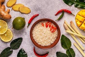 Ingredients of Thai spicy food