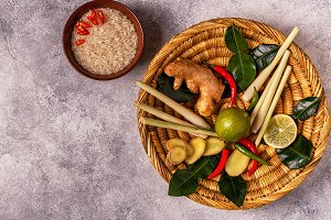 Ingredients of Thai spicy food