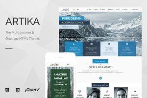 Artika - Multipurpose & Onepage HTML