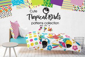 TROPICAL BIRDS Pattern collection