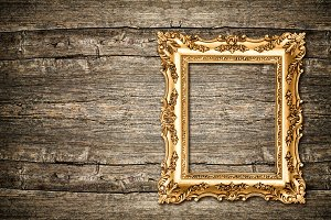 Baroque golden picture frame