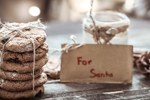 milk and cookies for Santa