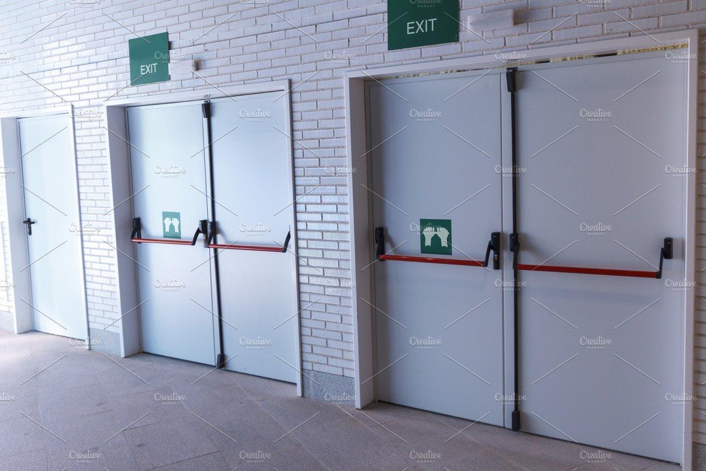 Emergency Exit Door Architecture Photos Creative Market