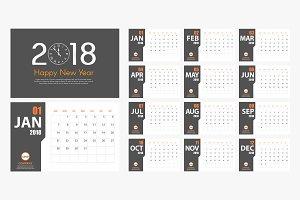 2018 New Year calendar mockup