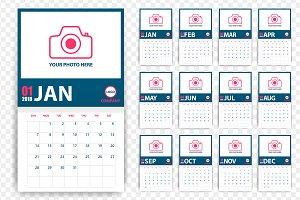 Vector 2018 photo calendar