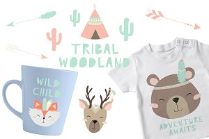 Tribal Woodland Set Pastel