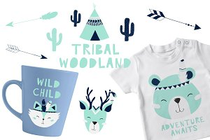 Tribal Woodland Set Mint