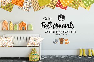 FALL ANIMALS Pattern collection