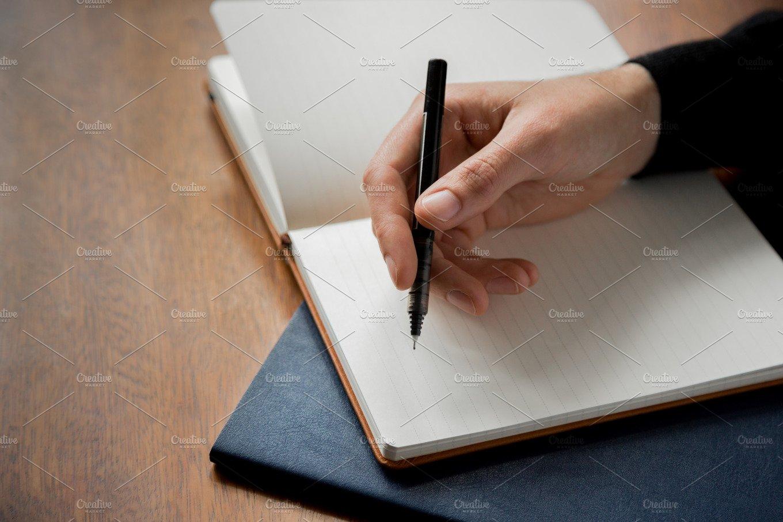 Man Writing In Notebook ~ Business Photos ~ Creative Market