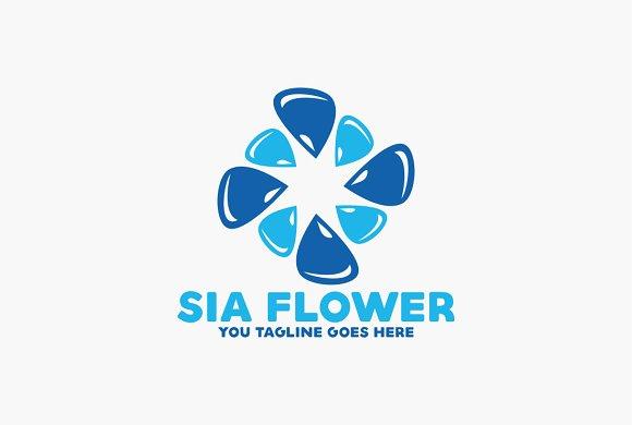 Water Flower Logo
