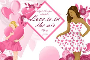 Valentine day girl