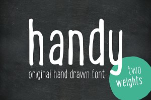 Handy - the hand drawn font