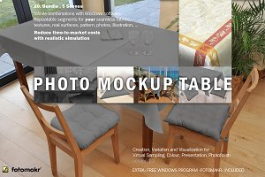 Mockup Table Cloth Photos