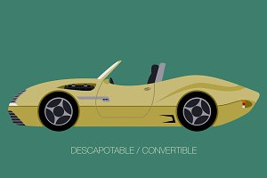 cabriolet car icon